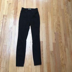 Madewell curvy high rise black jeans 25 euc